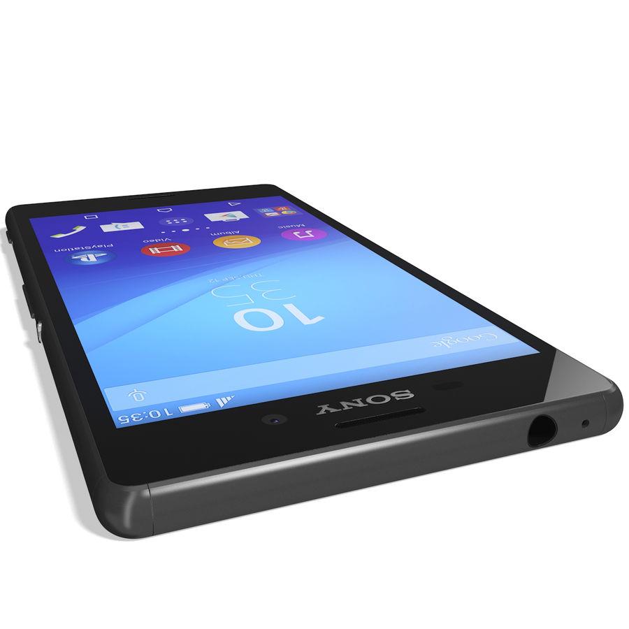 Sony Xperia M4 Aqua Black royalty-free 3d model - Preview no. 12