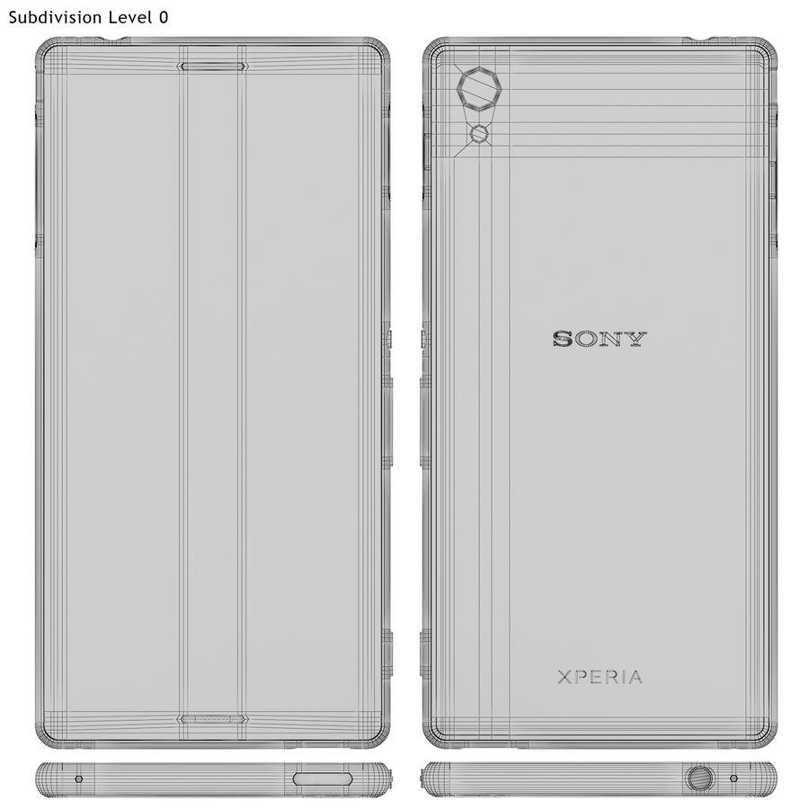Sony Xperia M4 Aqua Black royalty-free 3d model - Preview no. 18