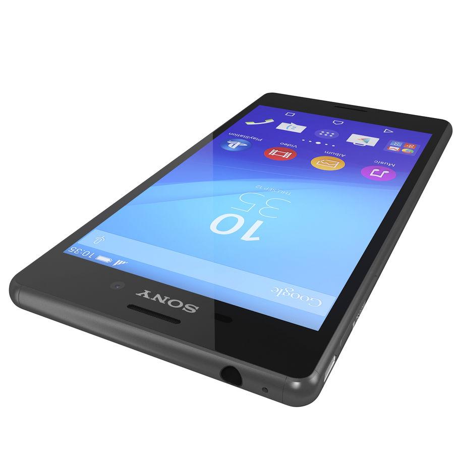 Sony Xperia M4 Aqua Black royalty-free 3d model - Preview no. 11