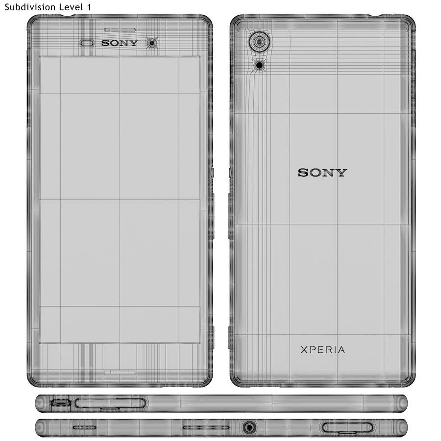 Sony Xperia M4 Aqua Black royalty-free 3d model - Preview no. 21