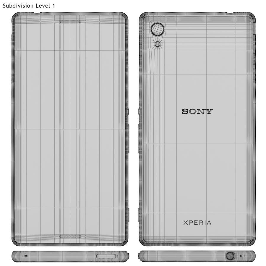 Sony Xperia M4 Aqua Black royalty-free 3d model - Preview no. 19