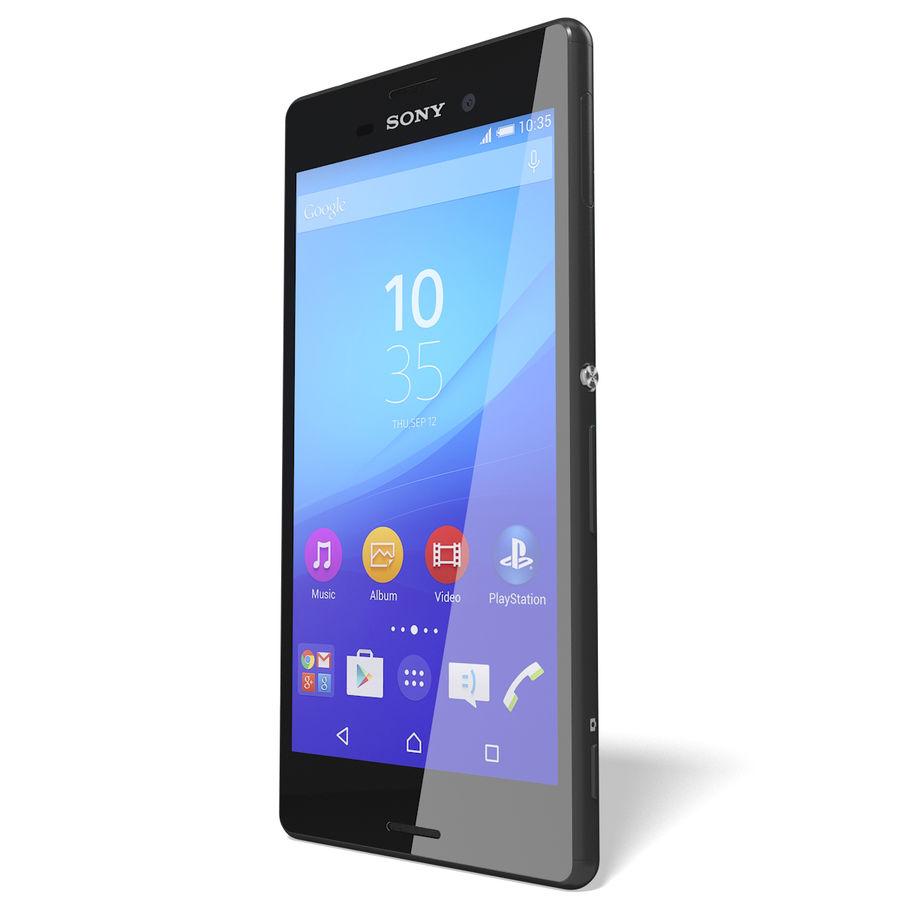 Sony Xperia M4 Aqua Black royalty-free 3d model - Preview no. 5