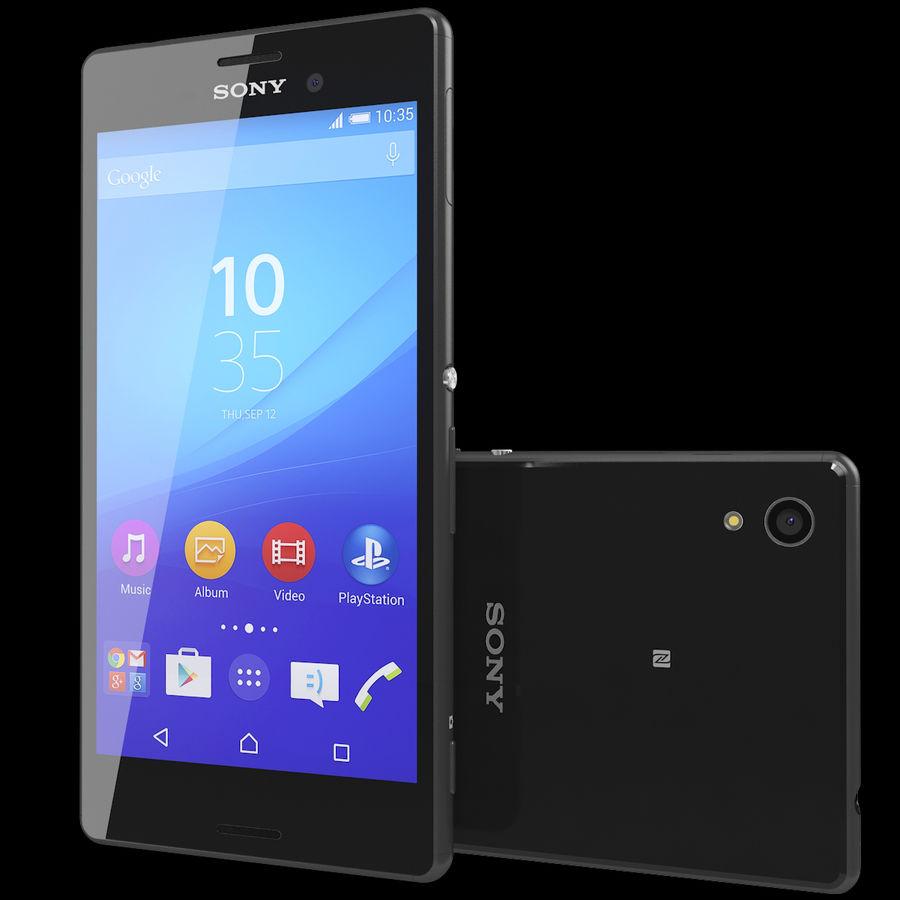 Sony Xperia M4 Aqua Black royalty-free 3d model - Preview no. 2
