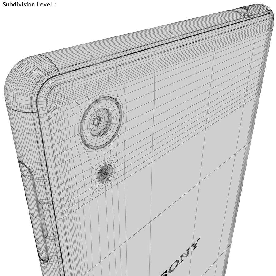 Sony Xperia M4 Aqua Black royalty-free 3d model - Preview no. 23