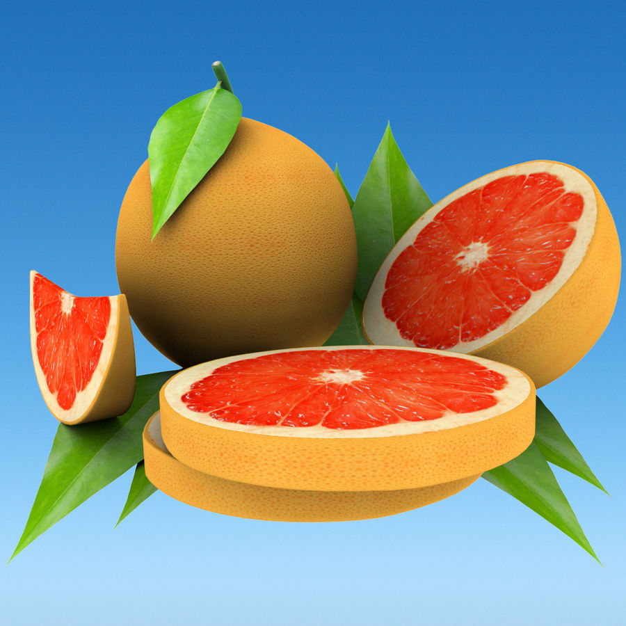 Grapefruit Mix royalty-free 3d model - Preview no. 2