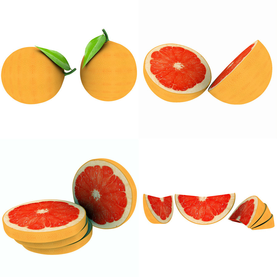 Grapefruit Mix royalty-free 3d model - Preview no. 12