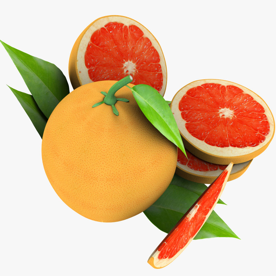 Grapefruit Mix royalty-free 3d model - Preview no. 10