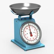 Balance de cuisine bleue 3d model