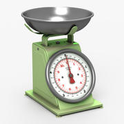 Kitchen Scale Green 3d model