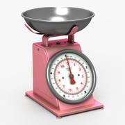 Kitchen Scale Pink 3d model