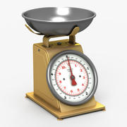 Kitchen Scale Yellow 3d model