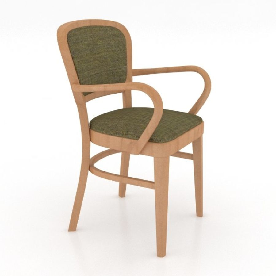 Eettafel en stoel meubels set royalty-free 3d model - Preview no. 10