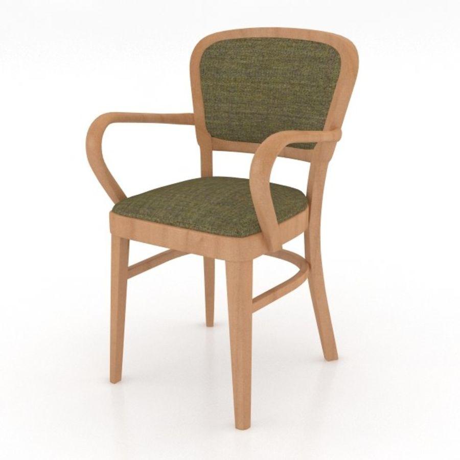 Eettafel en stoel meubels set royalty-free 3d model - Preview no. 9