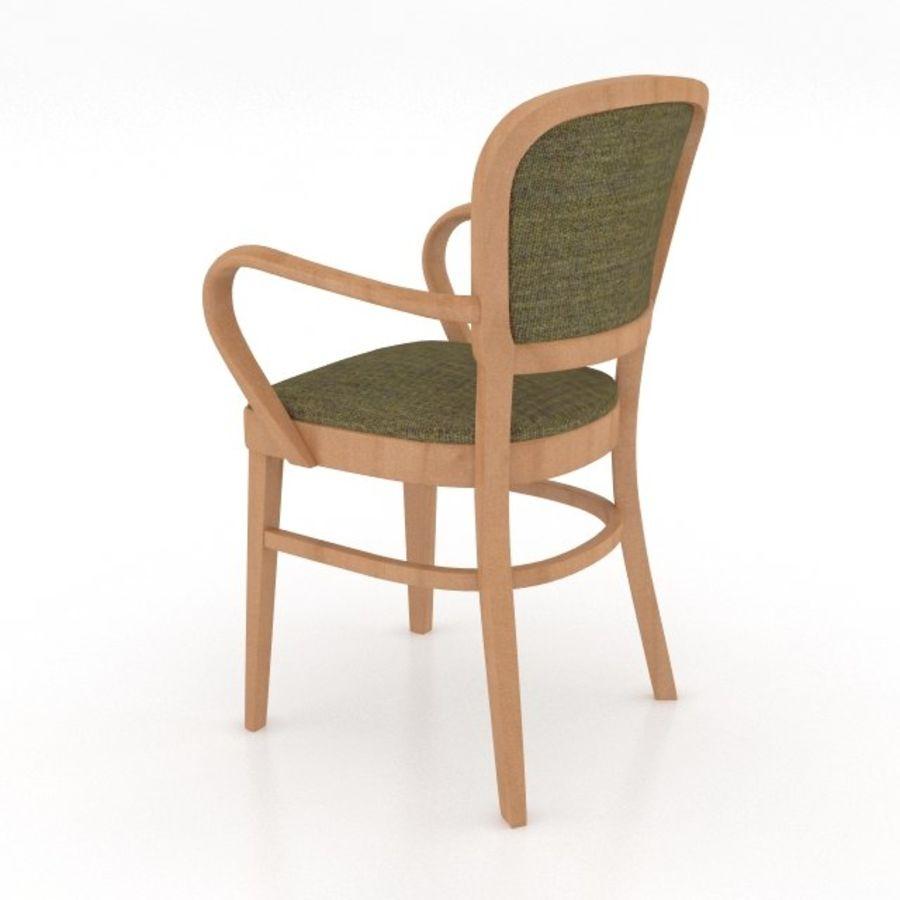 Eettafel en stoel meubels set royalty-free 3d model - Preview no. 12