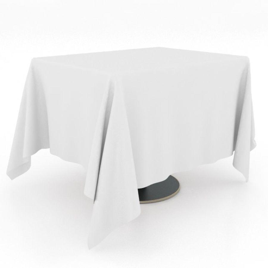 Eettafel en stoel meubels set royalty-free 3d model - Preview no. 14