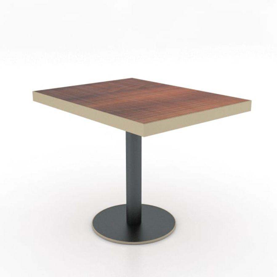 Eettafel en stoel meubels set royalty-free 3d model - Preview no. 16