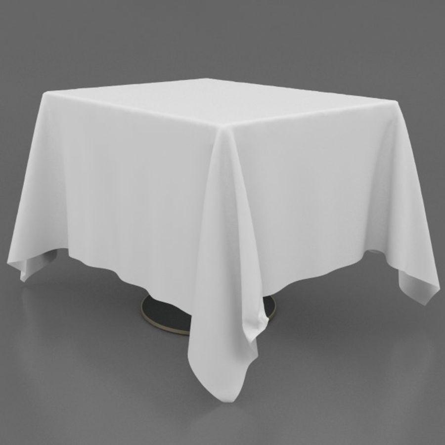 Eettafel en stoel meubels set royalty-free 3d model - Preview no. 15