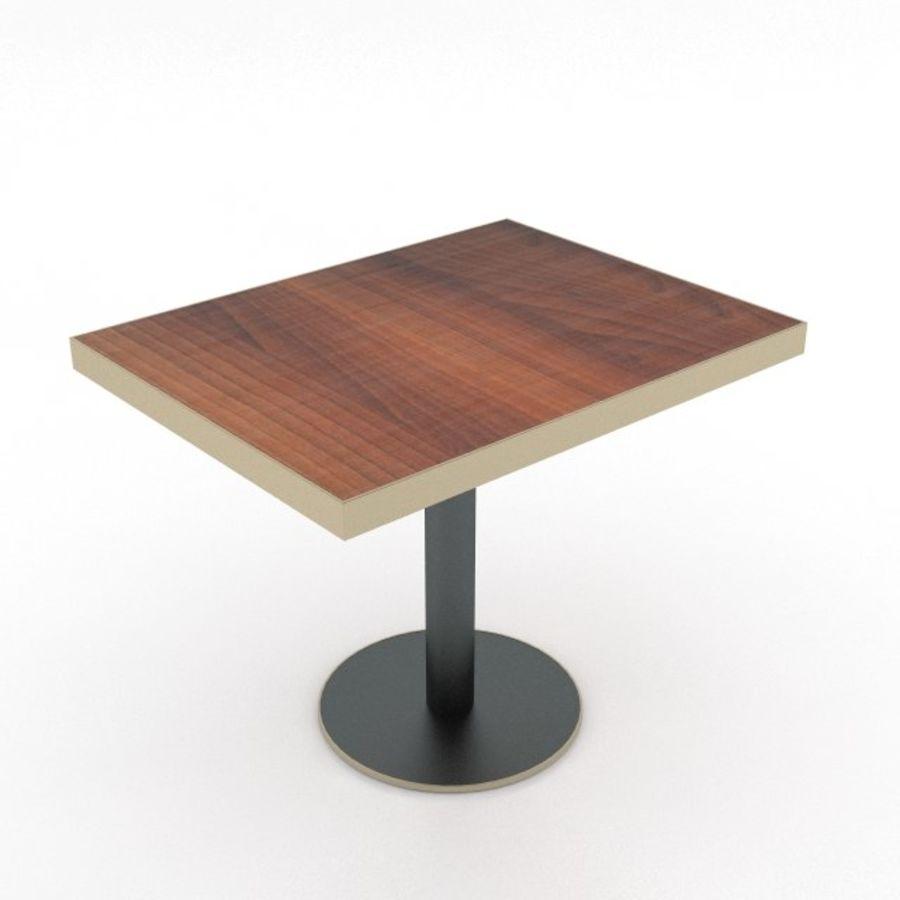 Eettafel en stoel meubels set royalty-free 3d model - Preview no. 17