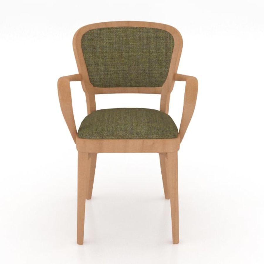 Eettafel en stoel meubels set royalty-free 3d model - Preview no. 13