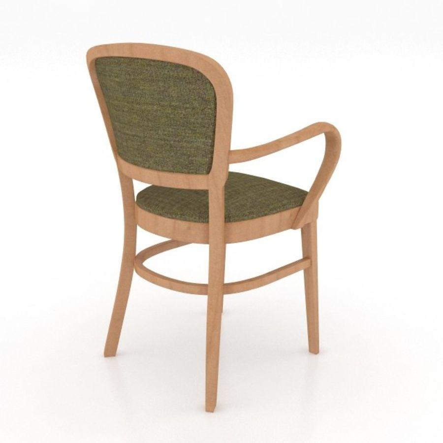 Eettafel en stoel meubels set royalty-free 3d model - Preview no. 11