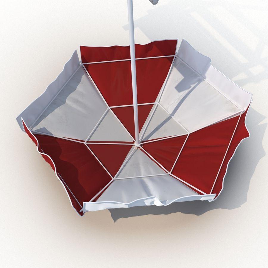 Silla salvavidas con sombrilla royalty-free modelo 3d - Preview no. 17