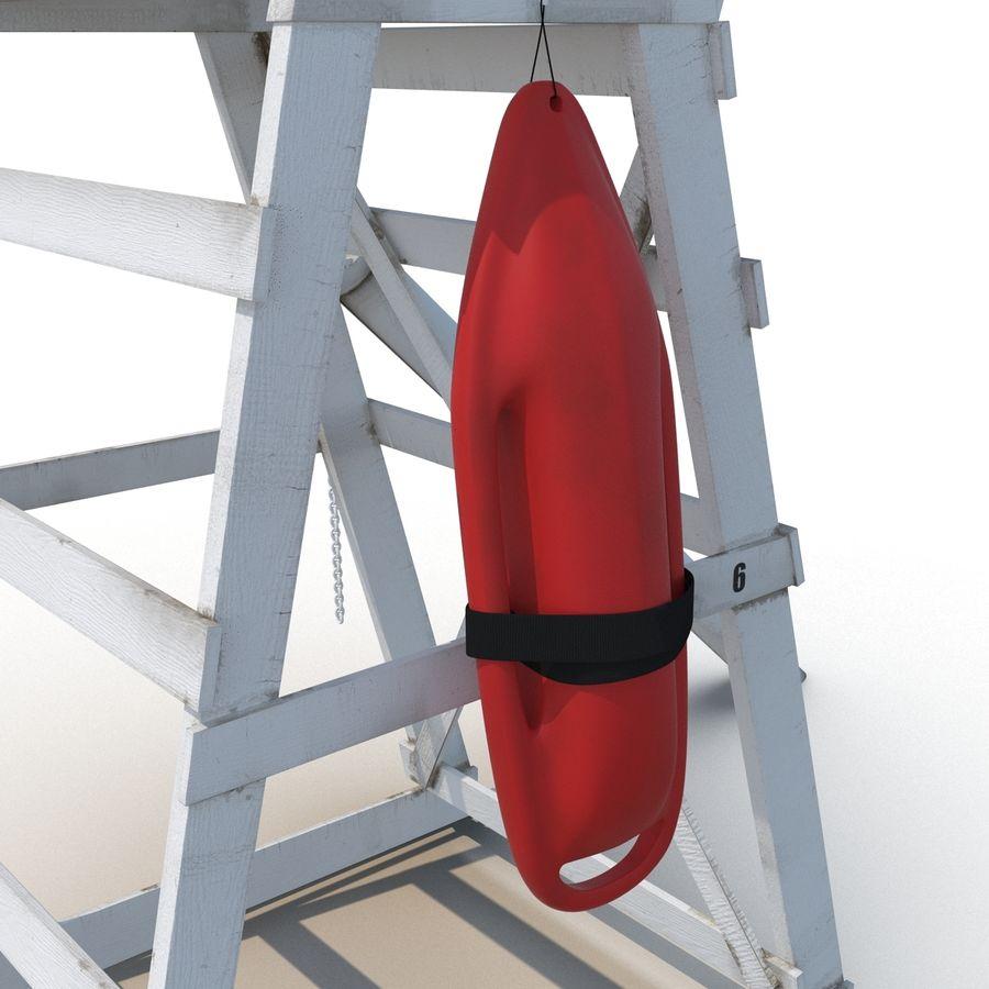 Silla salvavidas con sombrilla royalty-free modelo 3d - Preview no. 14