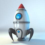 rakieta kreskówka 3d model