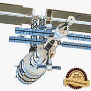 Спутник в космосе 3d model