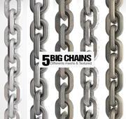 5 Big & Realistic Chains 3d model