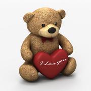 Teddybär-Liebe 3d model