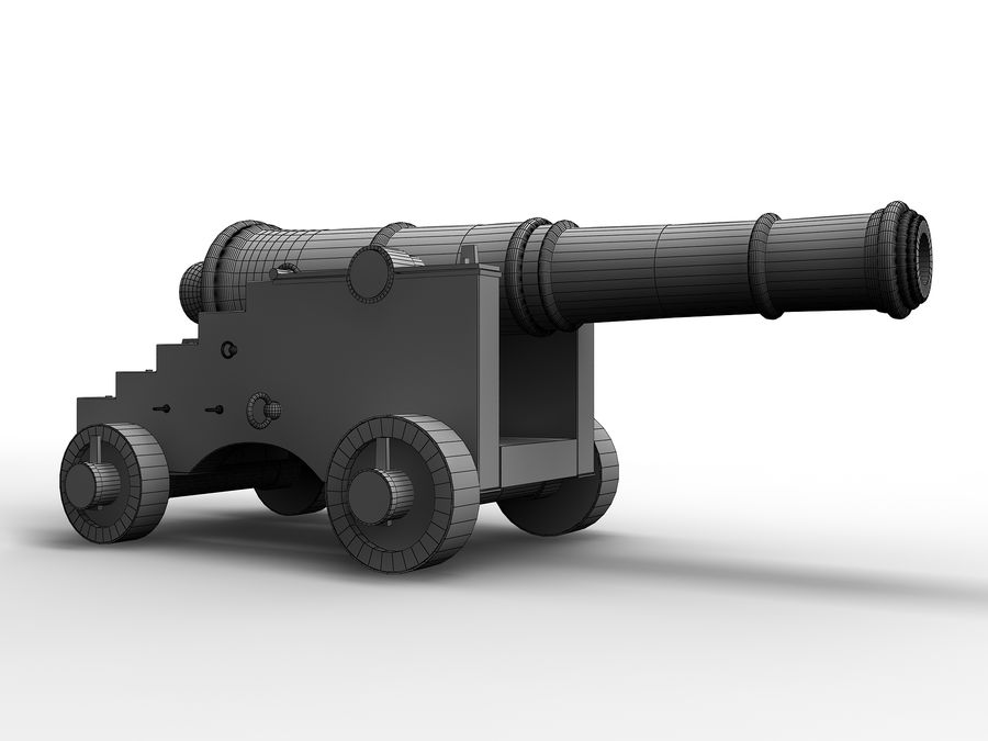cannon royalty-free 3d model - Preview no. 7