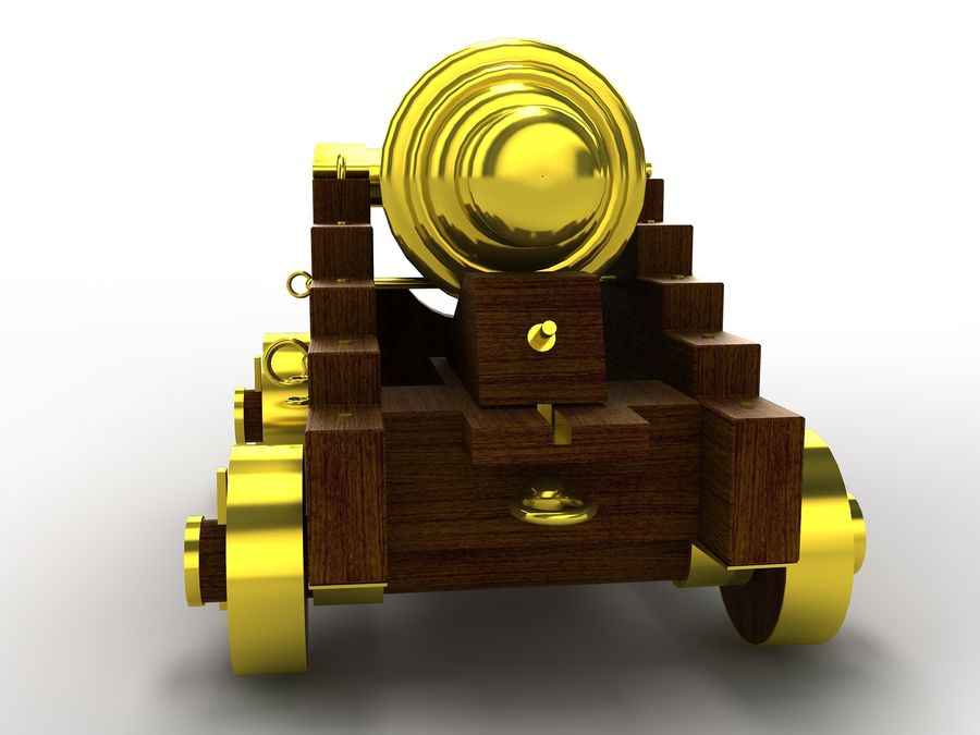 cannon royalty-free 3d model - Preview no. 5