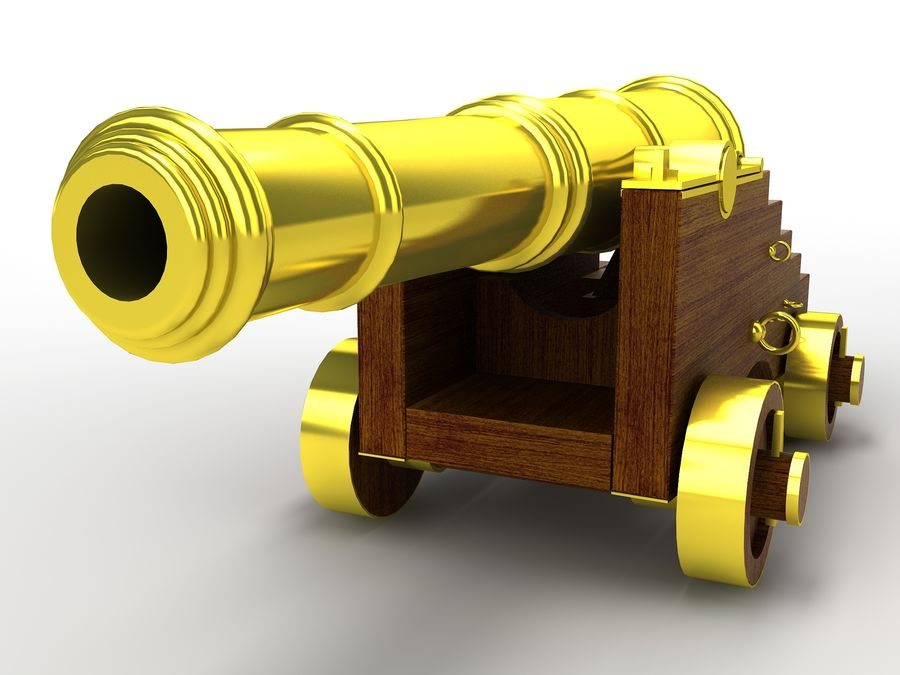 cannon royalty-free 3d model - Preview no. 3