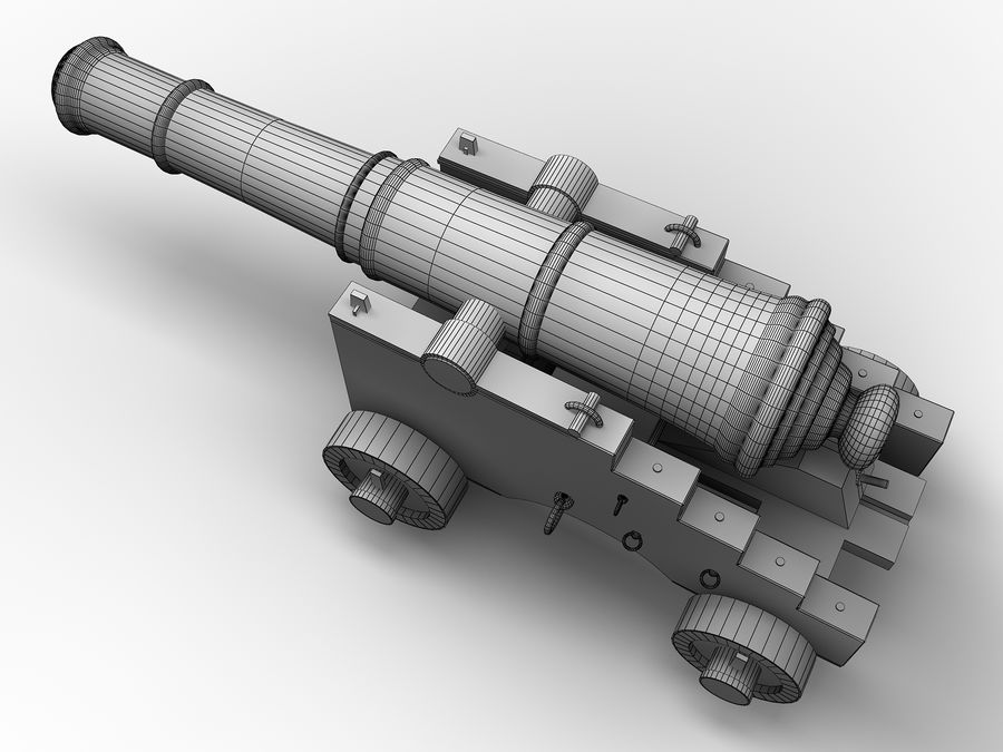 cannon royalty-free 3d model - Preview no. 9