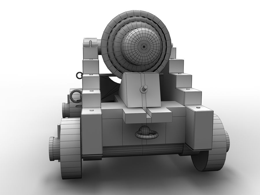 cannon royalty-free 3d model - Preview no. 10