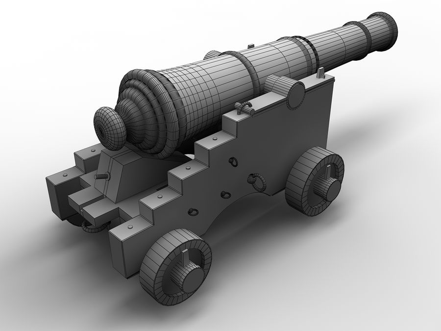 cannon royalty-free 3d model - Preview no. 6