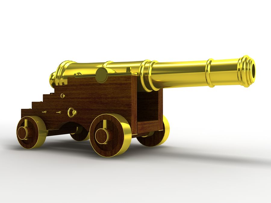 cannon royalty-free 3d model - Preview no. 2