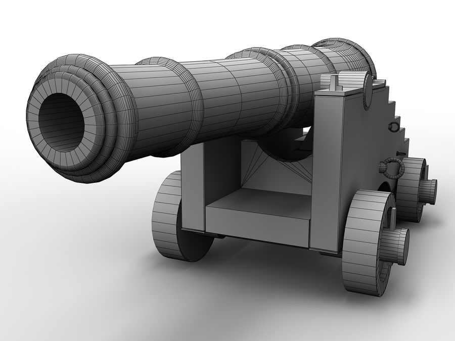 cannon royalty-free 3d model - Preview no. 8
