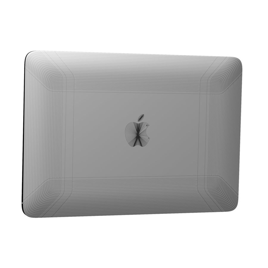 Apple MacBook 2015 royalty-free 3d model - Preview no. 30