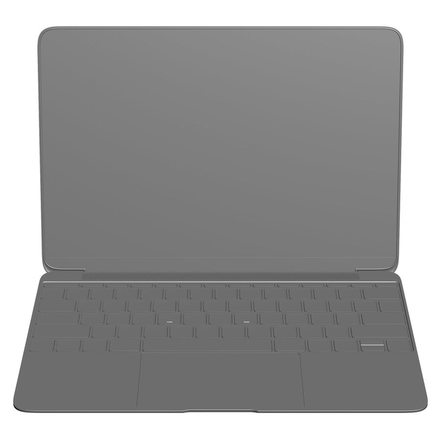 Apple MacBook 2015 royalty-free 3d model - Preview no. 23