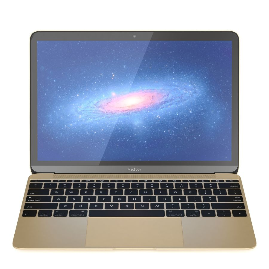 Apple MacBook 2015 royalty-free 3d model - Preview no. 9