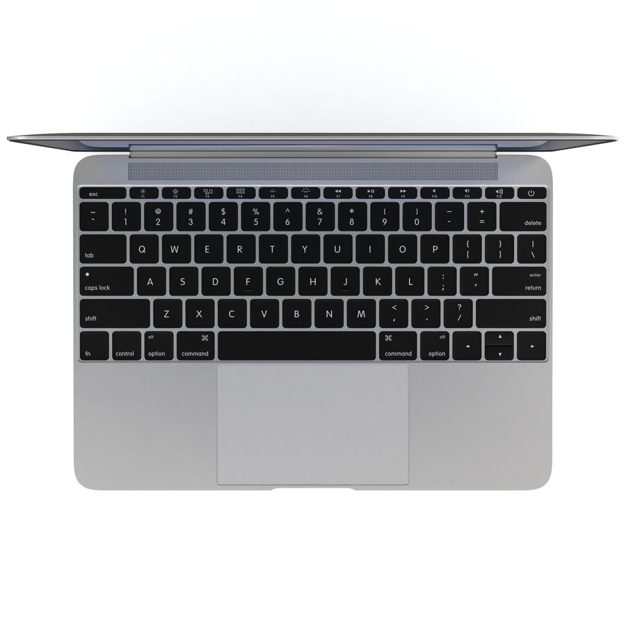 Apple MacBook 2015 royalty-free 3d model - Preview no. 20