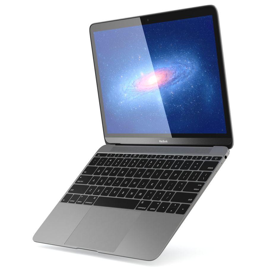 苹果MacBook 2015 royalty-free 3d model - Preview no. 7