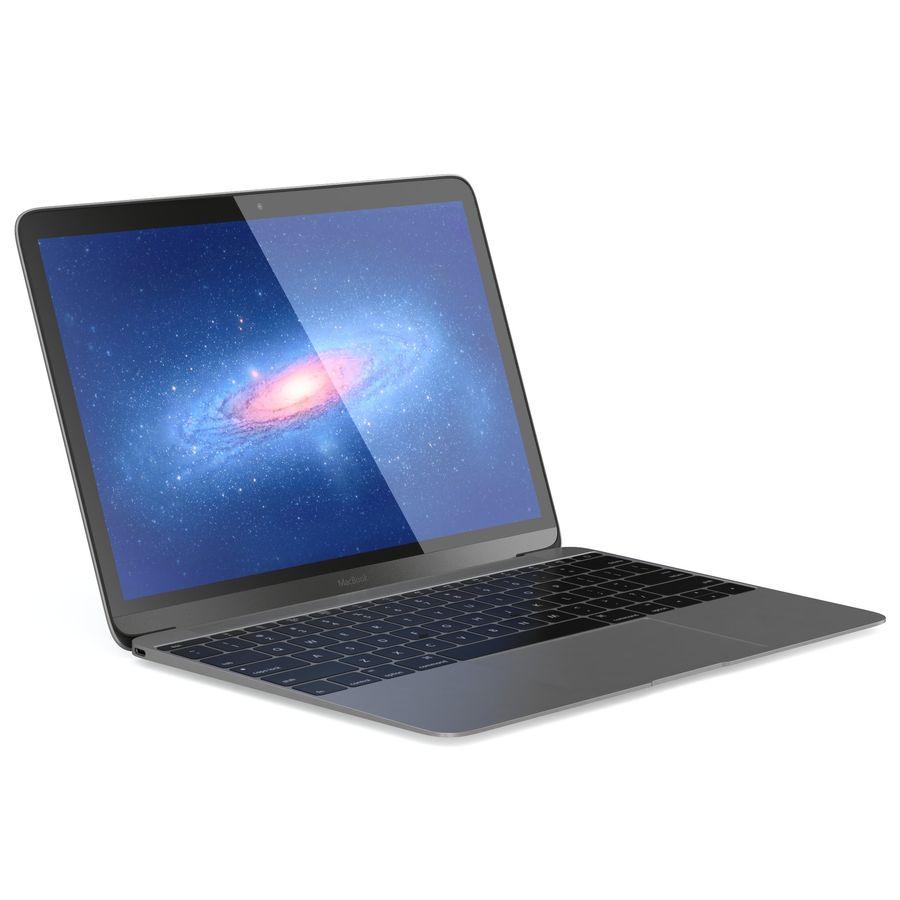 苹果MacBook 2015 royalty-free 3d model - Preview no. 4