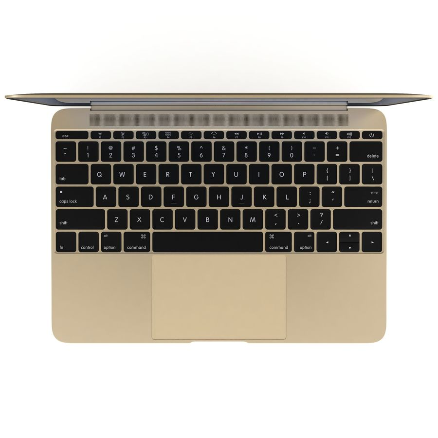 苹果MacBook 2015 royalty-free 3d model - Preview no. 21