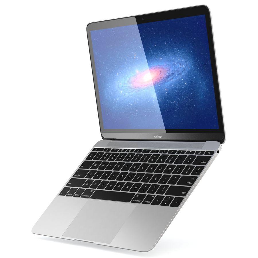 苹果MacBook 2015 royalty-free 3d model - Preview no. 5