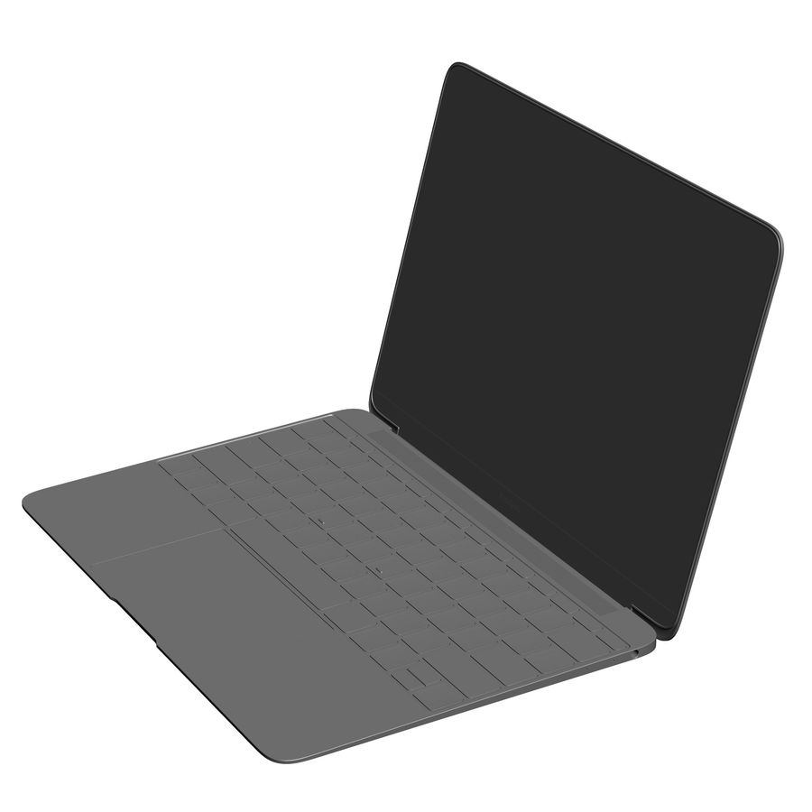 Apple MacBook 2015 royalty-free 3d model - Preview no. 25