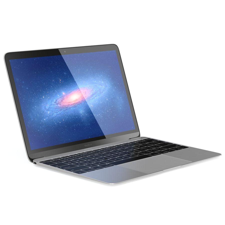 苹果MacBook 2015 royalty-free 3d model - Preview no. 2