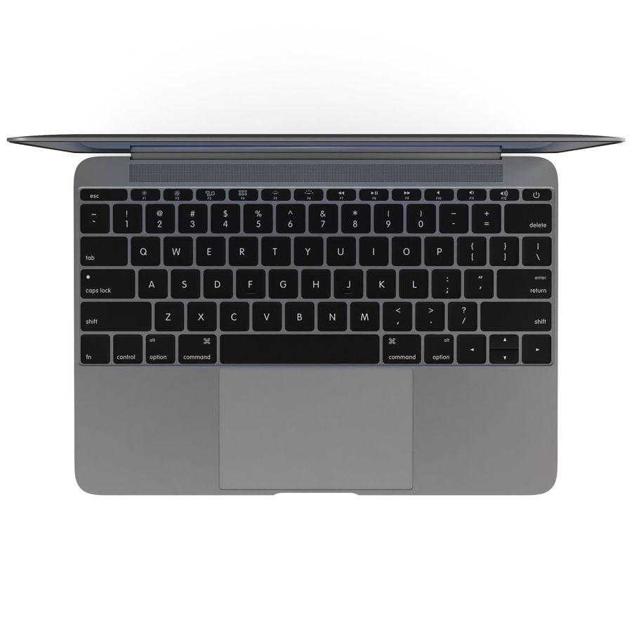 苹果MacBook 2015 royalty-free 3d model - Preview no. 22