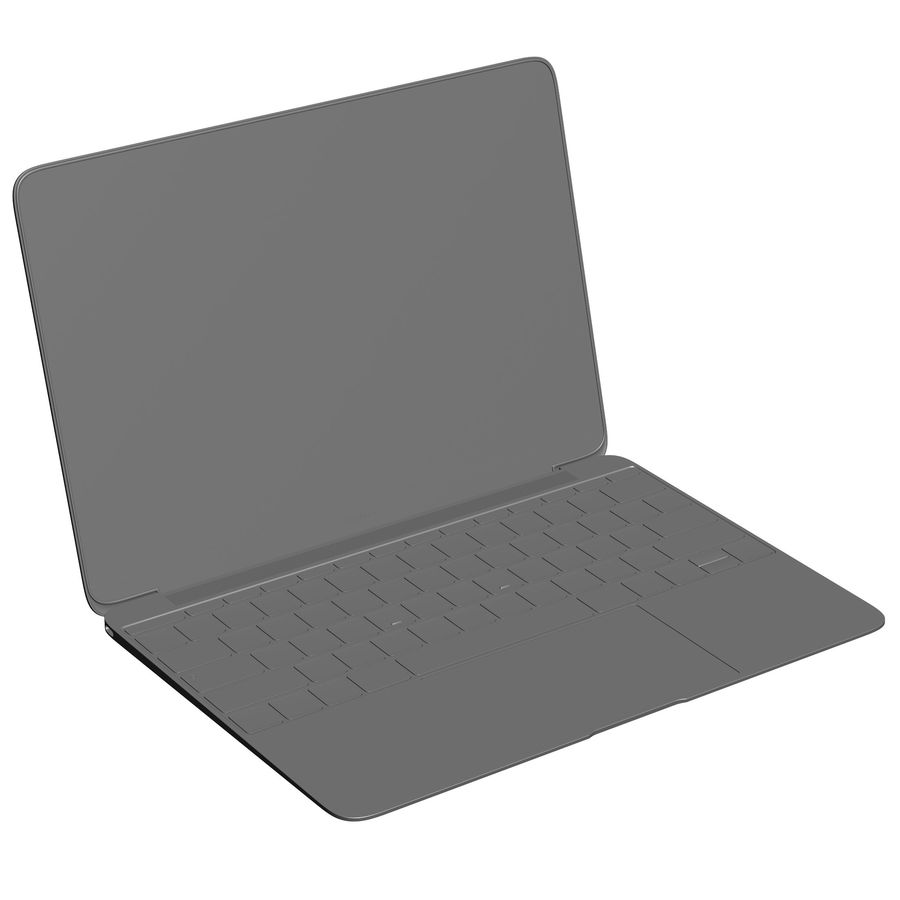 Apple MacBook 2015 royalty-free 3d model - Preview no. 28